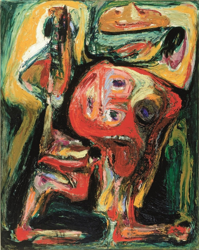 Asger Jorn, 'Le faux rire (image tragi-comique)', oil on canvas, 1954. Longterm loan by ABN-AMRO to the Cobra Museum of Modern Art, Amstelveen. Photograph: Henni van Beek