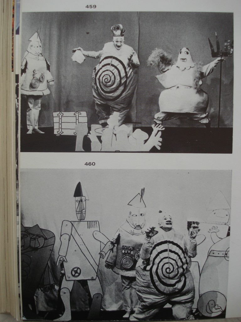 "Alfred Jarry's ""Ubu Roi"", stage design by Franciszka Themerson, Dir. by Michael Meschke, Stockholm, Marionetteatern, 1964"