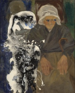 Asger Jorn, Modification with Brittany Woman, 1962. Collection Cobra Museum of Modern Art, long-term loan by Karel van Stuijvenberg,
